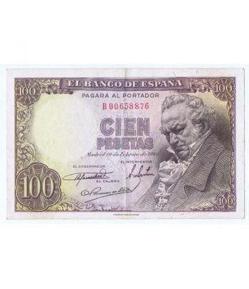 (1946/02/19) Madrid. 100 Pesetas. MBC. Serie B00658876  - 2