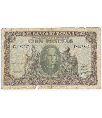 (1940/01/09) Madrid. 100 Pesetas. MBC-.  - 2