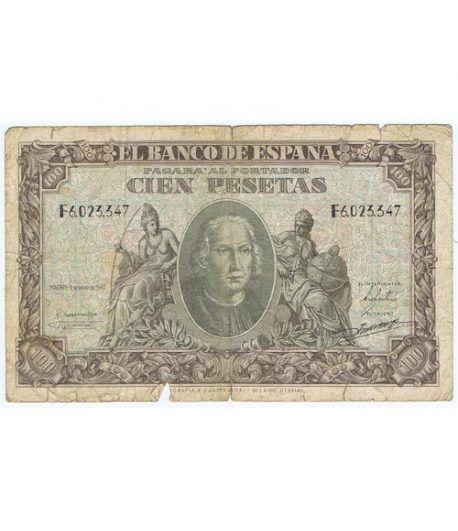 (1940/01/09) Madrid. 100 Pesetas. MBC-.  - 1
