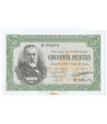 (1940/01/09) Madrid. 50 Pesetas. EBC Serie C1389979. Manchas  - 1