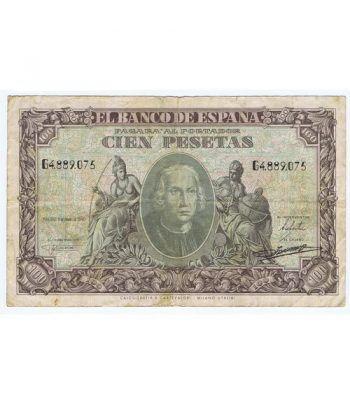 (1940/01/09) Madrid. 100 Pesetas. BC. Serie G4889075.  - 1