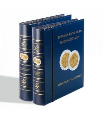 LEUCHTTURM OPTIMA Album preimpreso monedas 2 Euros Nº 3. Album Monedas Euro - 1