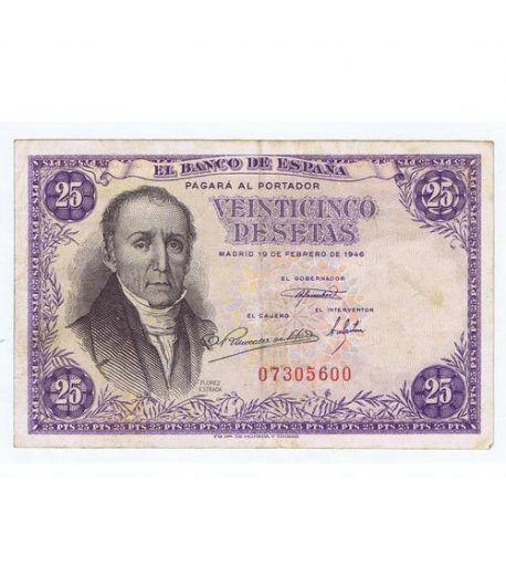 (1946/02/19) Madrid. 25 Pesetas. MBC+ Sin Serie 07305600  - 1