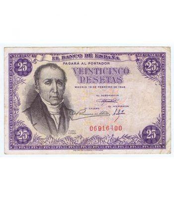 (1946/02/19) Madrid. 25 Pesetas. MBC+ Sin Serie 06916400  - 1