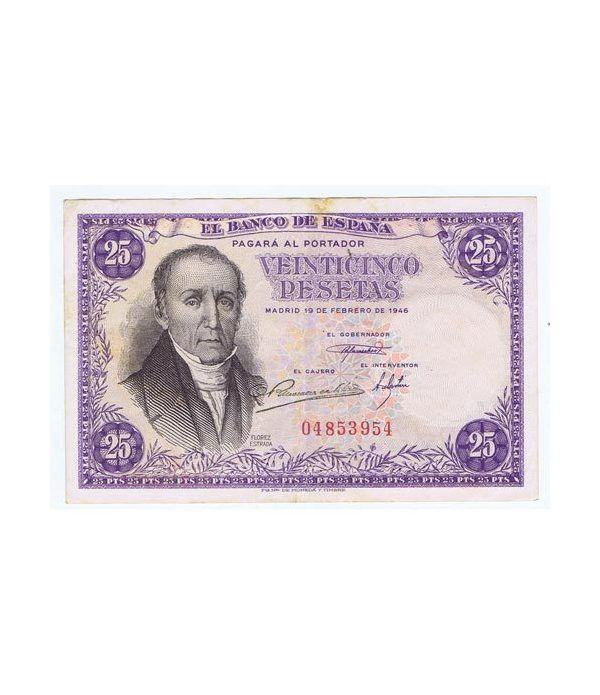 (1946/02/19) Madrid. 25 Pesetas. MBC+ Sin Serie 04853954  - 1