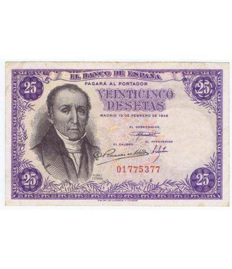 (1946/02/19) Madrid. 25 Pesetas. MBC+ Sin Serie 01775377  - 1