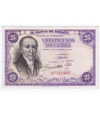 (1946/02/19) Madrid. 25 Pesetas. MBC+ Sin Serie 07411995  - 1