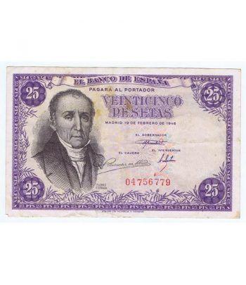(1946/02/19) Madrid. 25 Pesetas. MBC Sin Serie 04756779  - 1