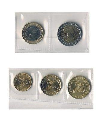 monedas euro serie Monaco 2002 (5valores)  - 2