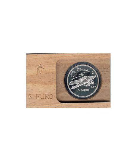 Moneda 1997 Aviación española. 5 euros. Plata.  - 2