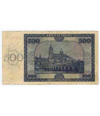 (1936/11/21) Burgos. 500 Pesetas. MBC. Serie A494116  - 4