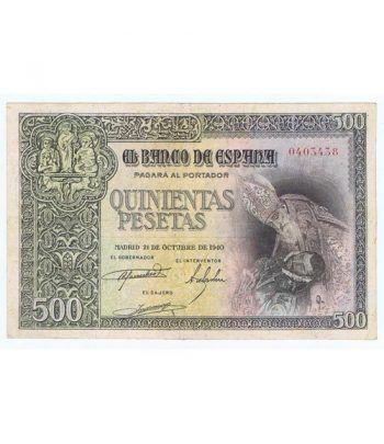 (1940/10/21) Madrid. 500 Pesetas. EBC. Serie 0403438  - 1