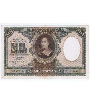 (1940/01/09) Madrid. 1000 Pesetas. EBC. Serie A1419599  - 1