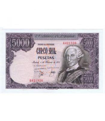 (1976/02/06) Madrid. 5000 Pesetas. EBC+. Sin Serie. 6421920  - 2
