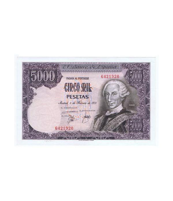 (1976/02/06) Madrid. 5000 Pesetas. EBC+. Sin Serie. 6421920  - 1