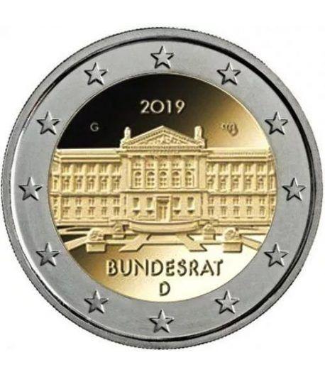 moneda conmemorativa 2 euros Alemania 2019 (5) Bundesrat  - 2