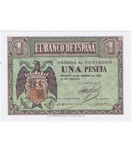 (1938/02/28) Burgos. 1 Peseta. SC. Serie F6478361  - 1