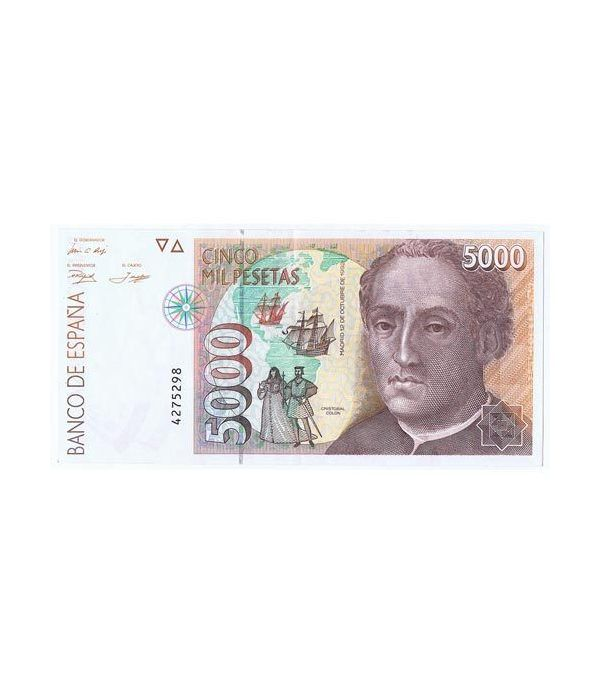 (1992/10/12) Madrid. 5000 Pesetas. EBC. Sin Serie 4275298  - 1