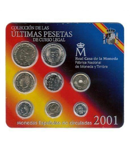 (2001) estuche FNMT ultimas pesetas  - 2