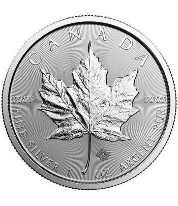Moneda onza de plata 5$ Canada Hoja de Arce 2019  - 1
