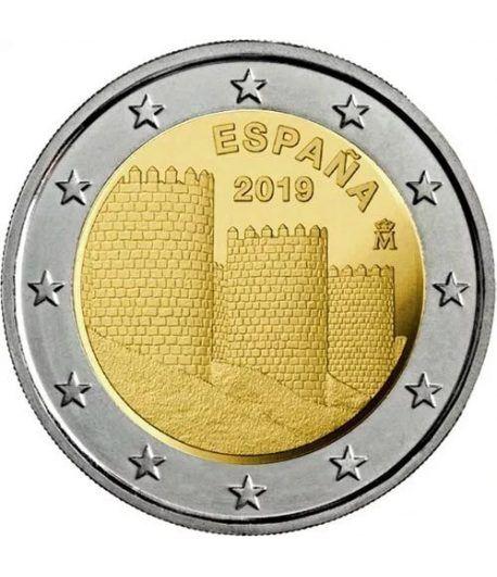 moneda conmemorativa 2 euros España 2019 Ávila  - 2