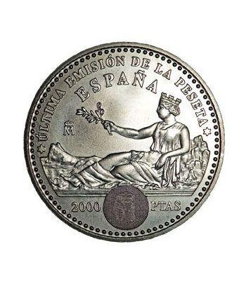 (2001) estuche FNMT 2000 ptas. ultimas pesetas  - 4