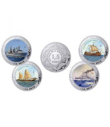 Monedas 2019 Historia de la Navegación II. 4 monedas.  - 1