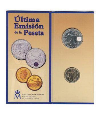 (2001) estuche FNMT 2000 ptas. ultimas pesetas  - 1