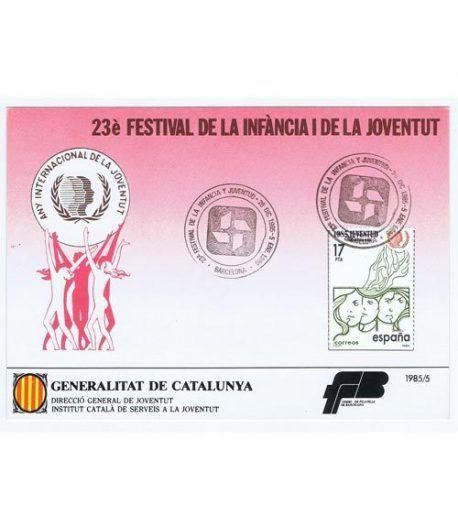 1985 23 Festival de la Infància i la Joventut. Hojita recuerdo  - 2