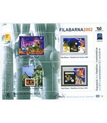 2002 FILABARNA. Hojita recuerdo GAUDI 3/6.  - 2
