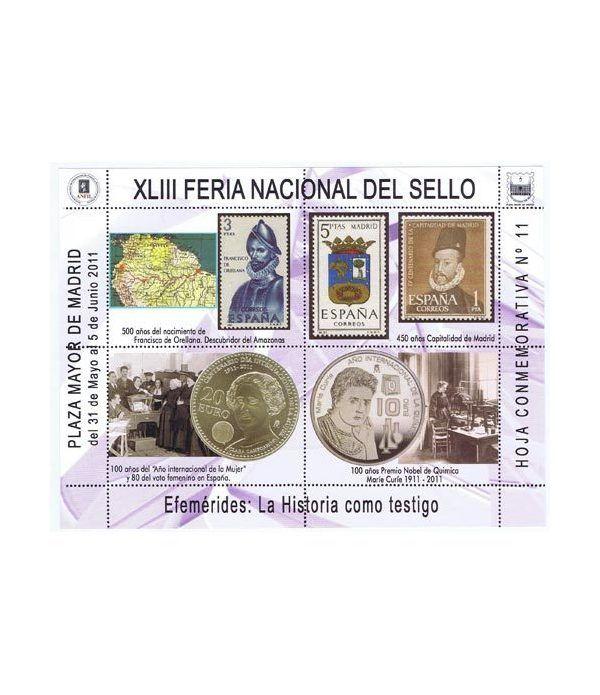 2011 XLIII Feria Nacional del Sello. Hoja conmemorativa 11  - 2