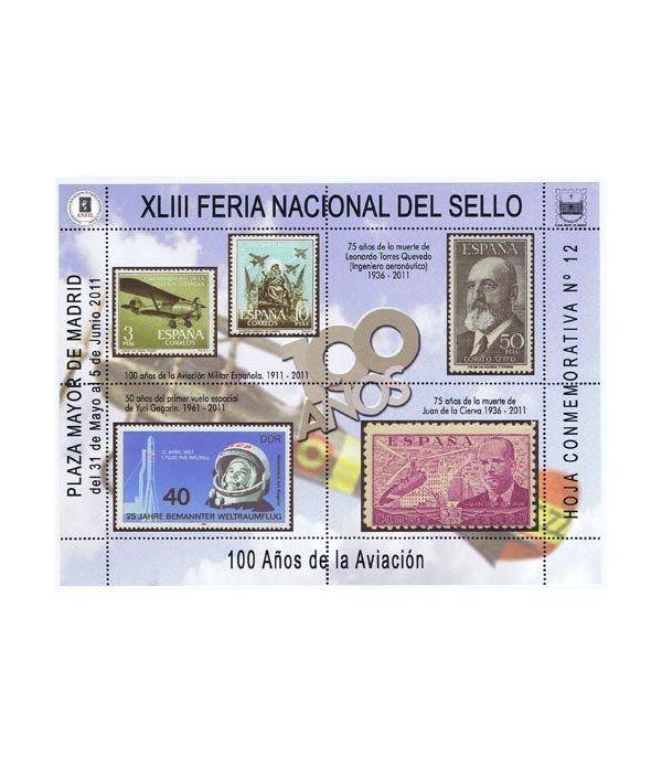 2011 XLIII Feria Nacional del Sello. Hoja conmemorativa 12  - 2