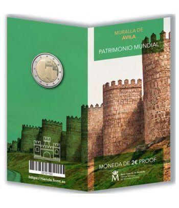 Cartera oficial euroset 2 Euros España 2019 Ávila. Proof  - 2