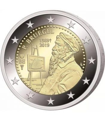 moneda conmemorativa 2 euros Belgica 2019 Pieter Brueghel  - 2