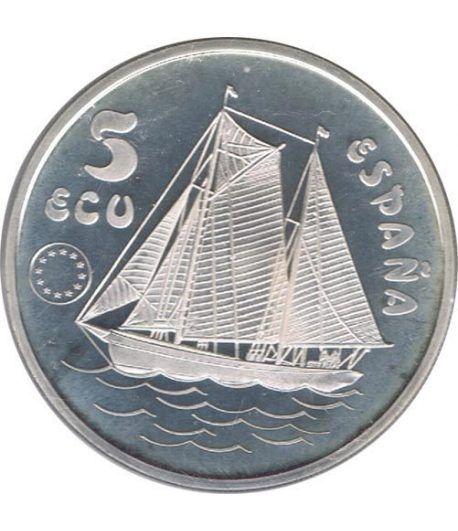 5 ECU. Serie Don Juan de Borbón 1993  - 1