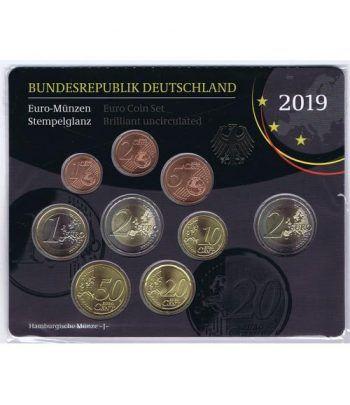Cartera oficial euroset Alemania 2019 (5 cecas).  - 1