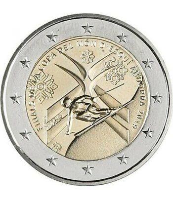 moneda conmemorativa 2 euros Andorra 2019 Esquí. BU.  - 1
