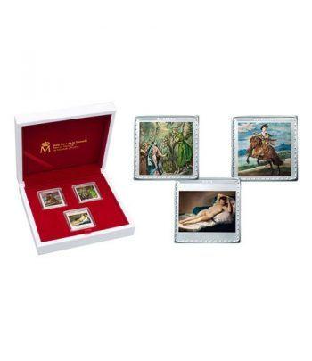 Monedas 2019 Bicentenario Museo del Prado. Completa Plata.  - 1