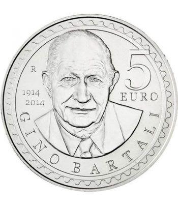 San Marino 5 Euros 2014 Gino Bartali. Ciclismo. Plata.  - 1