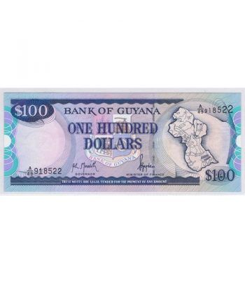 Guyana 100 $ Dolares. One Hundred Dollars  - 1