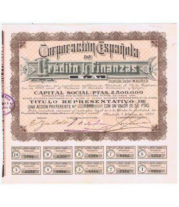 Acción Corporación Española Crédito y Financias 50 pts. nº 360  - 1