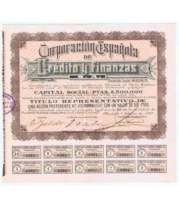 Acción Corporación Española Crédito y Financias 50 pts. nº 361.  - 1