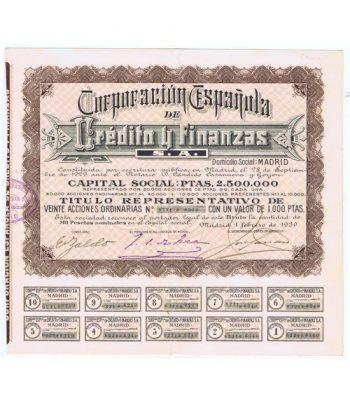 Acción Corporación Española Crédito y Financias 1000 pts.  - 1