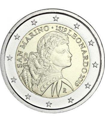 moneda conmemorativa 2 euros San Marino 2019 Da Vinci.  - 1