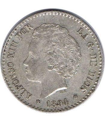 50 céntimos Plata 1894 *94 Alfonso XIII PG V. EBC  - 1