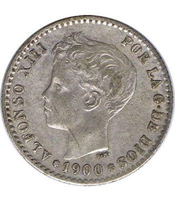 50 céntimos Plata 1900 *00 Alfonso XIII SM V. MBC  - 1