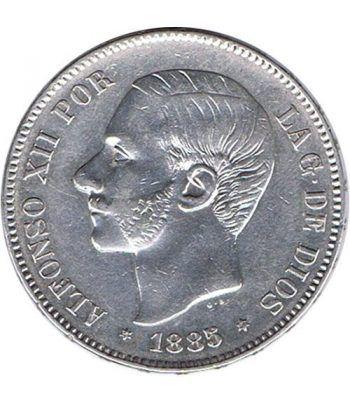 5 Pesetas Plata 1885 *87 Alfonso XII MS M. EBC  - 1
