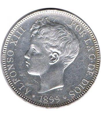 5 Pesetas Plata 1899 *99 Alfonso XIII SG V. EBC  - 1