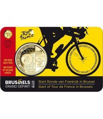 moneda Belgica 2.5 Euros 2019 Tour de France.  - 1
