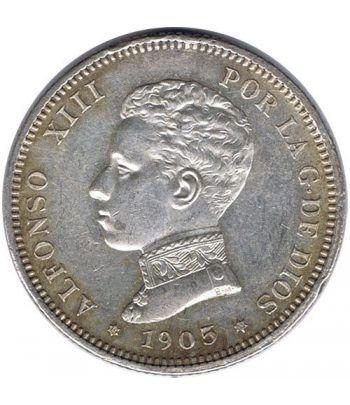 2 Pesetas Plata 1905 *05 Alfonso XIII SM V.  - 1